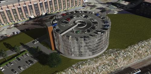 Campus Solna parkingas Svedija